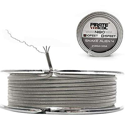10 Ft - Awg 28gax332ga Ni80 Alien Nichrome Heat Resistance Wire Prebuilt Coils