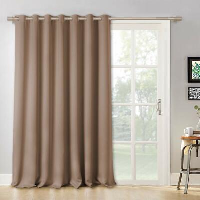 Blackout Patio Door Curtain Vertical Blind Drapes for Sliding Glass Door,1 Panel