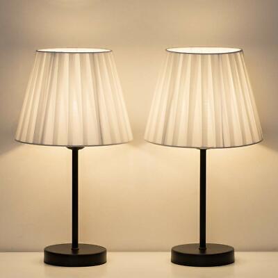 Set of 2 Modern Classic Table Lamp Beside Nightstand Bedroom Livingroom Office 2 Table Lamp Set