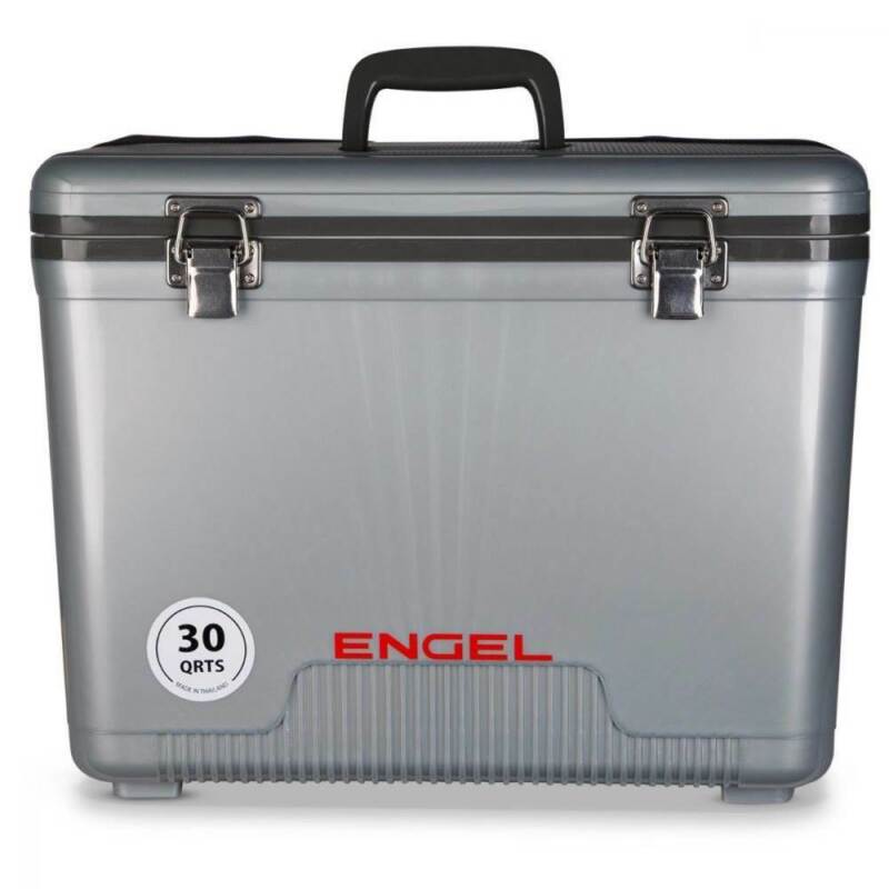 Engel 30-Qt 48 Can Leak-Proof Compact Insulated Airtight Drybox Cooler, Silver