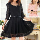 3/4 Sleeve Floral Ball Gowns for Women