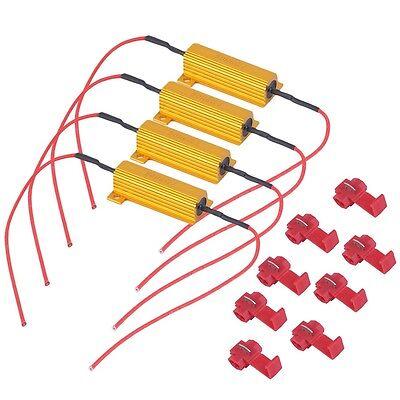Car 4Pcs 50W Load Resistor 6ohm Fix LED Bulb Fast Hyper Flash Turn Signal 5Y