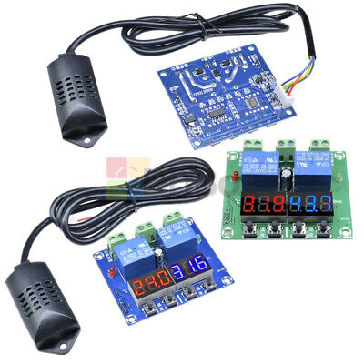 Digital Dual Temperature Thermostat Humidity Controller Lcd Display 12v Xh-m452