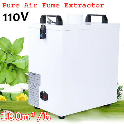 110v Pure Air Fume Extractor Smoke Purifier For Co2 Laser Marking Cutter Machine