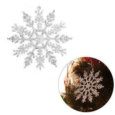 12/24pcs Glitter Christmas Snowflake Ornaments Xmas Party Tree Hanging Decor DIY](Christmas Ornaments Diy)