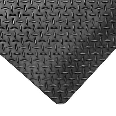 Diamond Plate Runner Mats (NoTrax 8CCC7 Antifatigue Diamond Plate Runner Mat 3' x 75' Black)