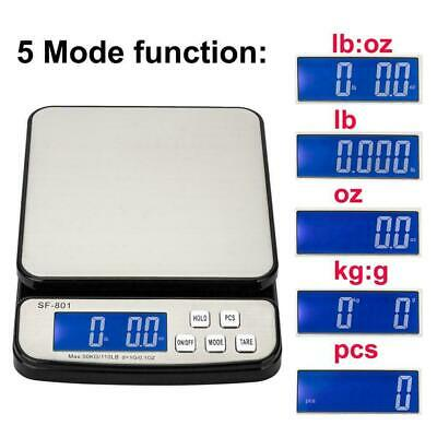 110 Lb X 0.1oz Digital Postal Shipping Scale Weight Postage 3x Battery Adapter