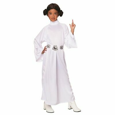 Princess Leia Costume Girls (Kids Rubie's STAR WARS Deluxe PRINCESS LEIA Halloween Costume w/Wig S 4-6)