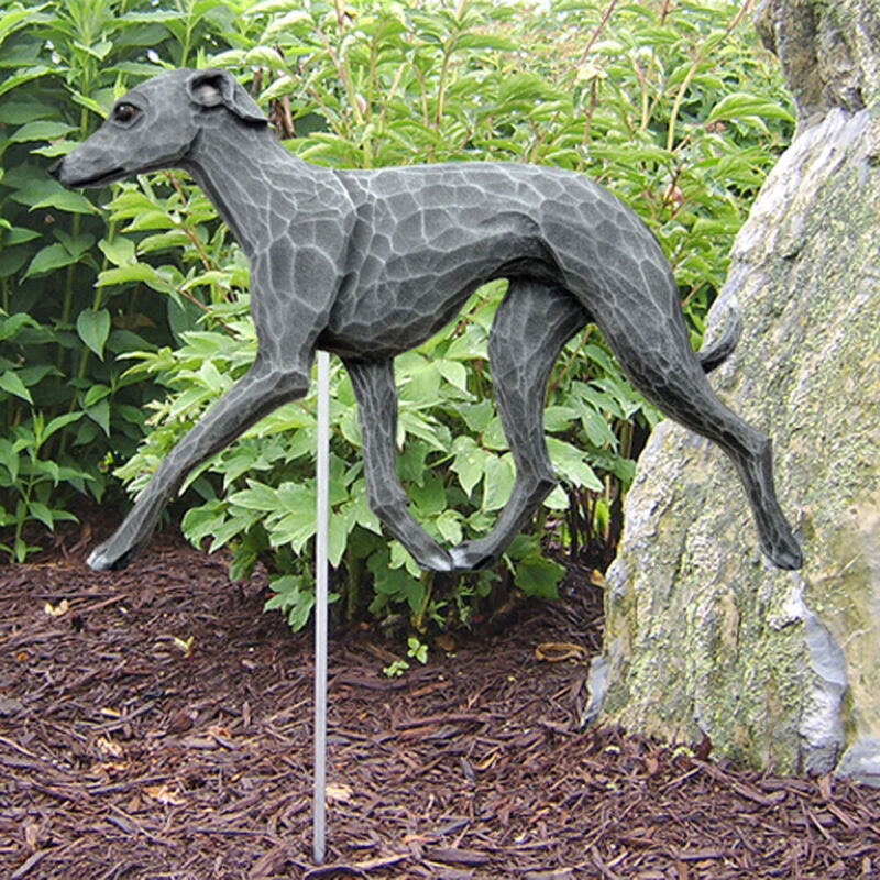 Italian Greyhound Outdoor Garden Sign Hand Painted Figure Blue