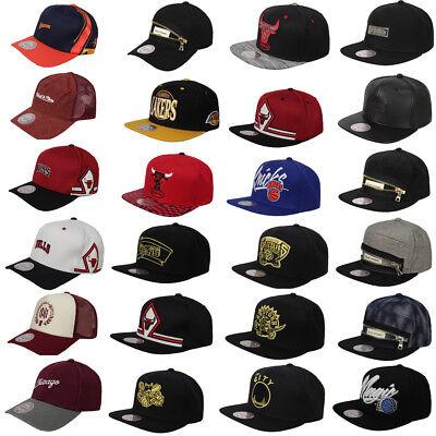 Mitchell & Ness NBA Basketball Adjustable Snapback Strap Adults Unisex Caps Hats