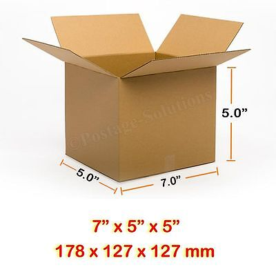 100 7X5X5 178x127x127mm SINGLE WALL CARD BOARD BOXES CHEAPER & FREE DELIVERY