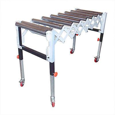 Adjustable Expandable Gravity Wheel 9 Roller Conveyor Flexible Table T1732