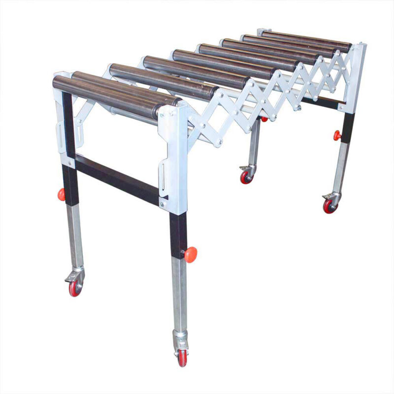 Adjustable Expandable Gravity Wheel 9 Roller Conveyor Flexible Table T1732
