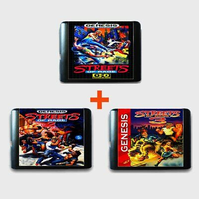 Streets of Rage 1 2 3  for Sega Genesis Mega Drive Simpsons Street Fighter Sonic