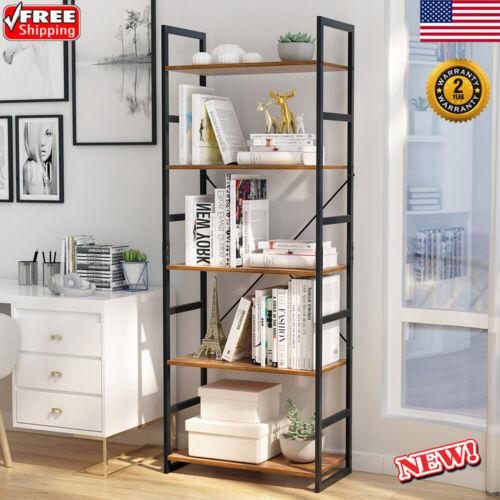 5-Tier Bookcase Bookshelf Organizer Home Office Shelving Rac