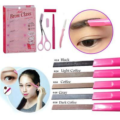 4Pcs Eye Beauty Schablone Rasierer Augenbrauenstift Schere Brow