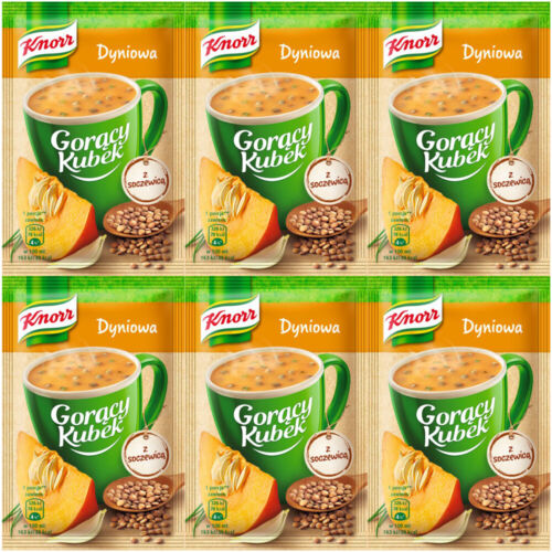 KNORR Instant PUMPKIN SOUP with Lentils 6Packx22G MIX CUP Goracy Kubek Dyniowa