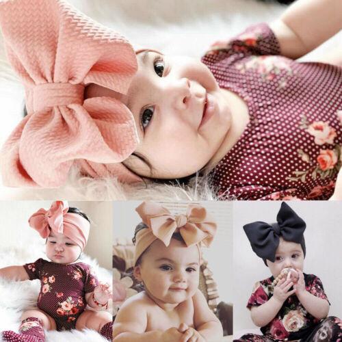 Baby Girl Hair Band Big Bow Flower Headband Wrap Turban Knot Hair Accessory Use