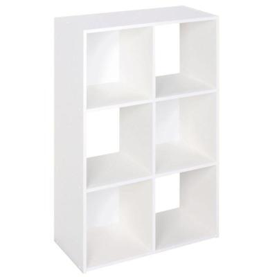 24-in Closet Wardrobe Organizer Wood Stackable 6-Cube Shelve