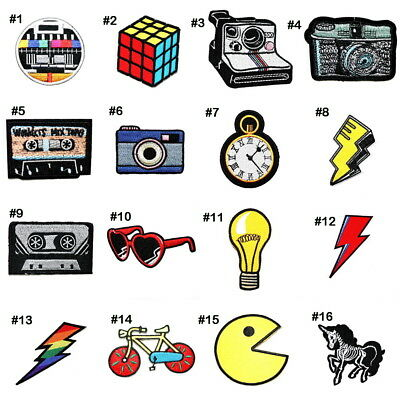 Retro Old School fashion Old Time kids Memory 80s 90s DIY Clothes Iron on Patch](Old School Clothes 80s)