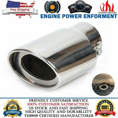 Universal Stainless Steel Car Rear Round Exhaust Pipe Tail Muffler Tip Chrome Chrome Stainless Steel Exhaust