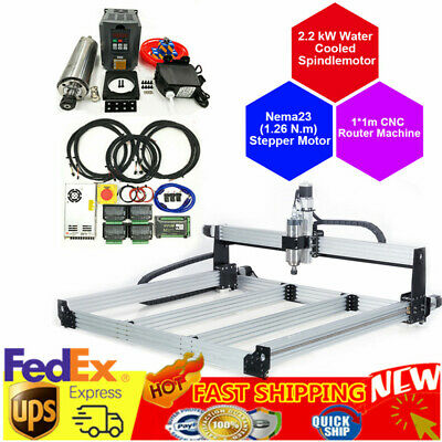 Cnc Router Machine 1000x1000mm 4 Axis Screw Driven Diy Cnc Engraving Mill 2.2 Kw