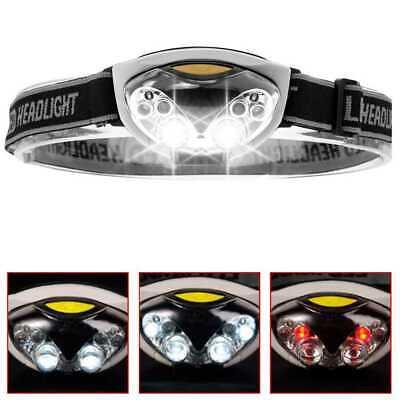 Linterna de Cabeza 4+2 LEDs Luz Frontal Lampara con Cinta Universal para...