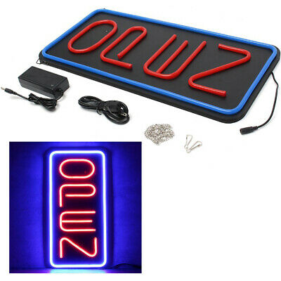 23.6x11.8 30w Bright Rectangular Red Blue Led Light Open Neon Business Sign