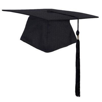 Graduation Cap Matte Adult Unisex For High School & College Black With Tassel - Black Graduation Cap