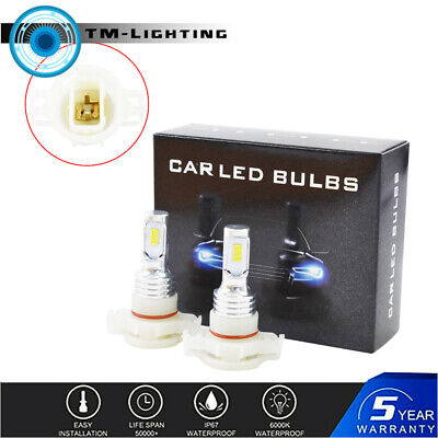 5202 PS24WFF LED Fog Light Bulbs Kit 35W 4000LM 6000K White Plug And Play New