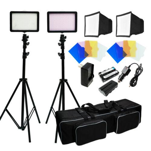 216 Led Studio Video Light Canon Nikon Camera Camcorder P...