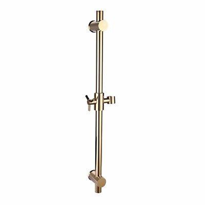 (Brass Gold Shower Slide Bar Adjustable Bathing Rack Wall Mount Handheld Bracket)