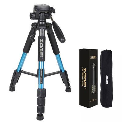 """ZOMEI Q111 55"""" Professional Aluminum Alloy Camera Tripod for DSLR  Camera Blue"""