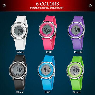 OHSEN 1605 Digital Kinder Uhr Stoppuhr Sportuhr Alarm Armbanduhr Wasserdichte . (Wasserdichte Sportliche Uhr)