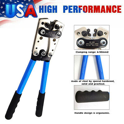 Cable Crimping Tool Battery Wire Terminal Crimper Ratchet Electrician Plier K5c3