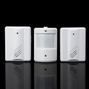 2 in 1 WIRELESS MOTION SENSOR DETECTOR DOOR GATE ENTRY BELL CHIME ALERT ALARM-UK