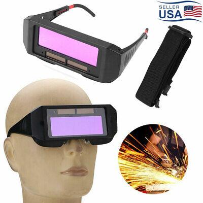 Solar Auto Darkening Welding Glasses Welder Maskhelmet Eyes Tig Mig Goggles