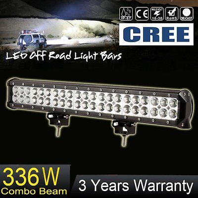 "20""IN CREE LED Light Bar 336W Flood Spot Combo Fog Off-road 4WD ATV SUV 22"" 24"""