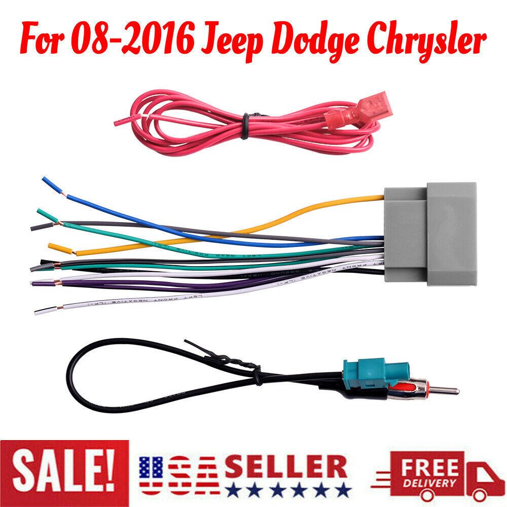 car stereo radio wiring harness antenna adapter for jeep dodge chrysler new  | ebay  ebay