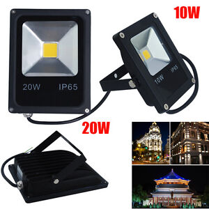 uk 10 20w led flood light outdoor floodlight security garden landscape