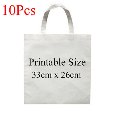 10pcs Blank Dye Sublimation Shopping Bag Small For Heat Transfer Non-woven