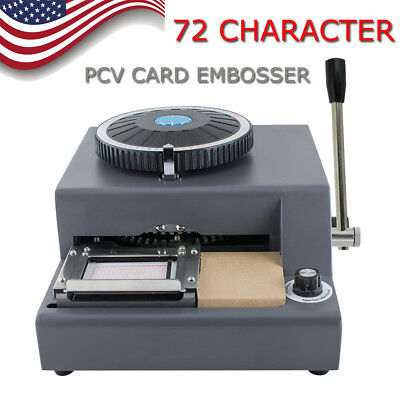 72-character Letters Manual Embosser Credit Id Pvc Card Vip Embossing Machine