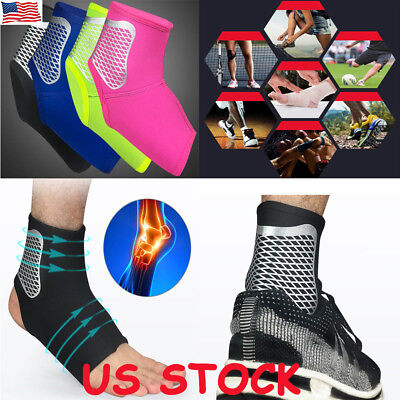 1 Neoprene Ankle Brace Foot Guard Pad Protector MMA Achilles Tendon Pain Support