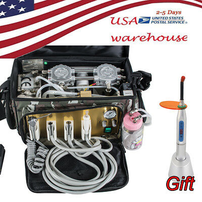 Usa Portable Dental Turbine Unit Air Compressor Carry Bag 24 Hole For Dnetist