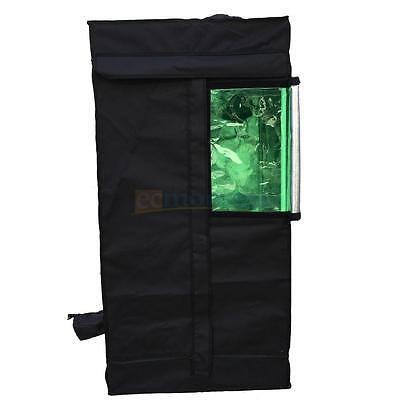 """24""""x 24""""x48"""" Hydroponics 100% Reflective Mylar Grow Tent Non Toxic Add Window"""