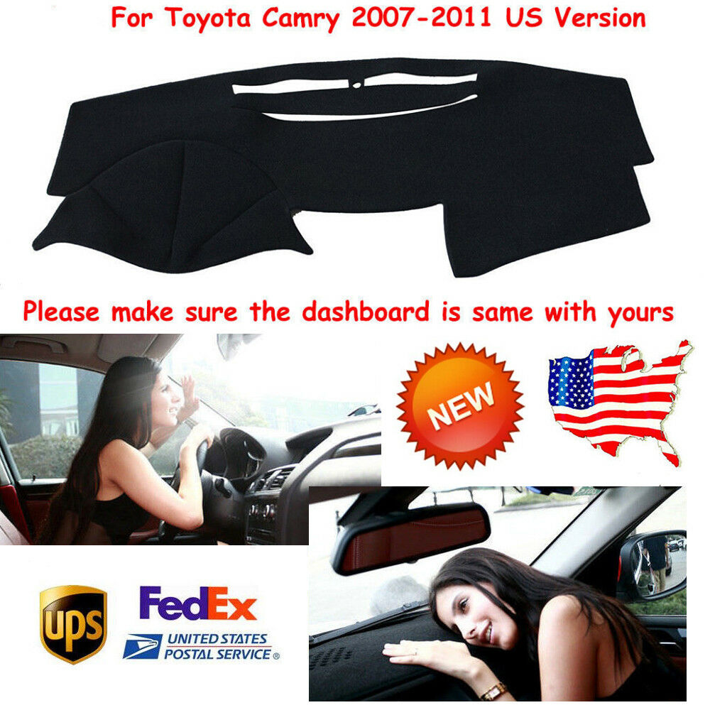 Car Parts - New Car Dashboard Cover Pad Dash Parts For Toyota Camry 2007-2011 Black Mats US