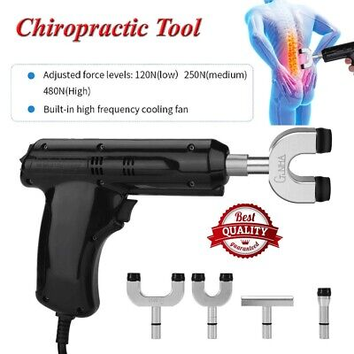 Electric Chiropractic Adjusting Tool Therapy Spine Activator Massager Tool Black