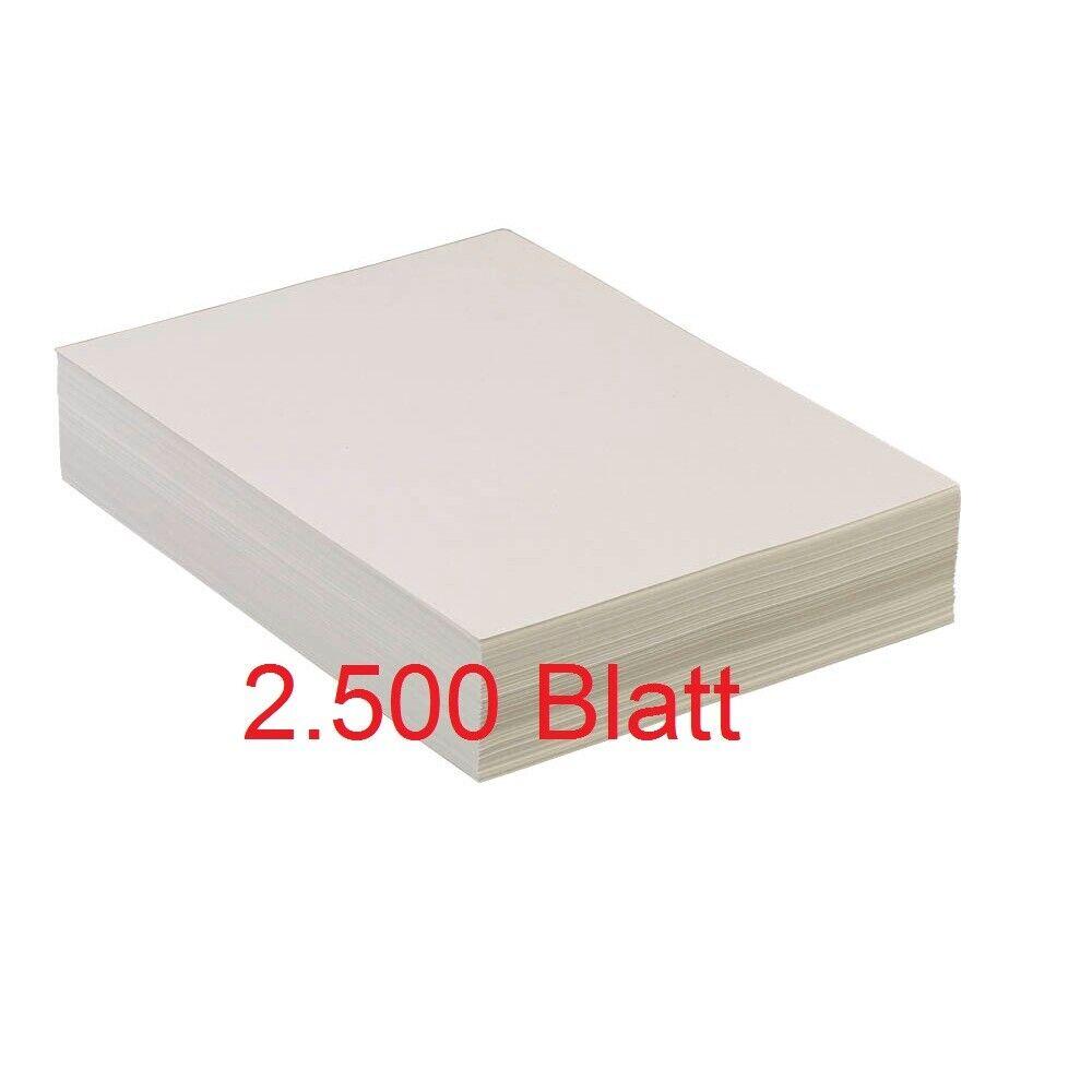 Recycling Kopierpapier Druckerpapier Inkjetpapier - Packung (2.500 Blatt) - OVP