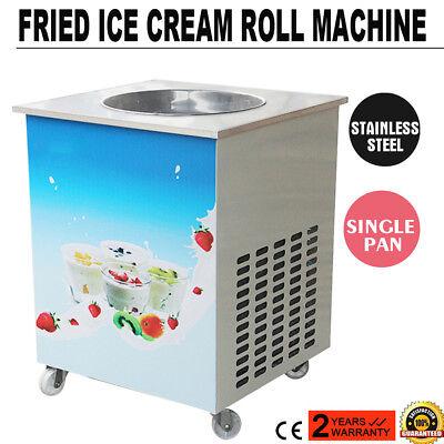 Fried Ice Cream Roll Machine Single Pan Commercial Fried Milk Yogurt Machine