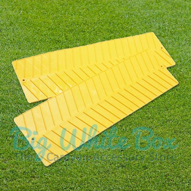 W4 Yellow Grip Mats Anti-Slip For Mud & Snow – Pair